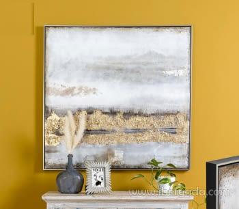 Cuadro Oleo Abstracto (100x100)