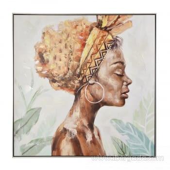 Cuadro Oleo Africana IV (100x100) - 1