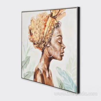 Cuadro Oleo Africana IV (100x100) - 2