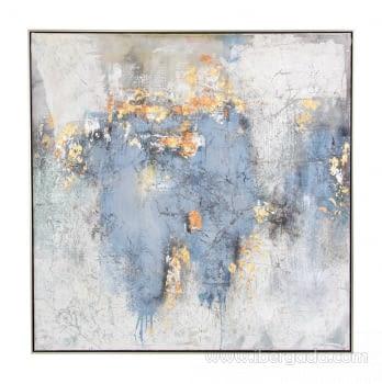 Cuadro Oleo Abstracto (120x120) - 1