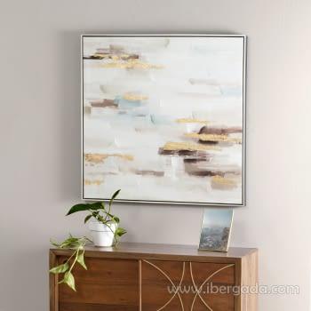 Cuadro Oleo Abstracto (80x80)