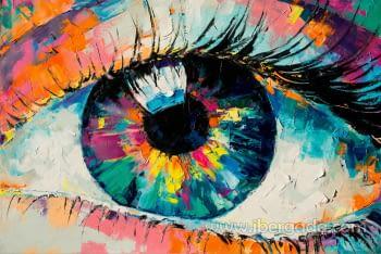 Fotografía Ojo Multicolor (120x80) - 1
