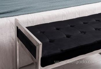 Banqueta Acero/Negro (100x40x56) - 1