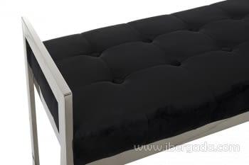 Banqueta Acero/Negro (100x40x56) - 4