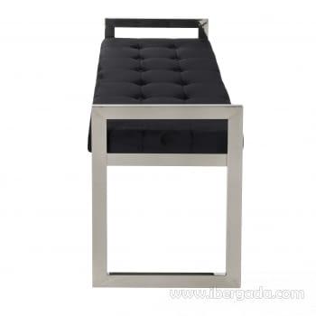 Banqueta Acero/Negro (100x40x56) - 5