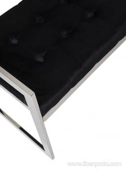 Banqueta Acero/Negro (100x40x56) - 6