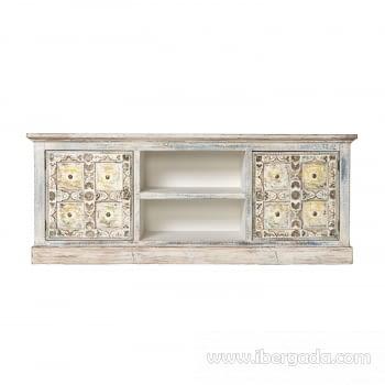 Mueble de TV Ming  2 Puertas 2 Huecos (150x40x58)