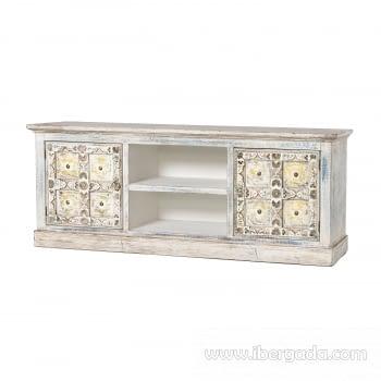 Mueble de TV Ming  2 Puertas 2 Huecos (150x40x58) - 2