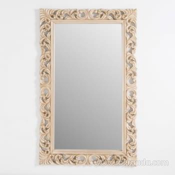 Espejo Rectangular Barroco Crema (155x95) - 1