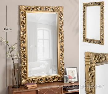 Espejo Rectangular Barroco Oro Patinado (155x95)