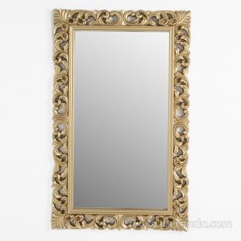 Espejo Rectangular Barroco Oro Patinado (155x95) - 3