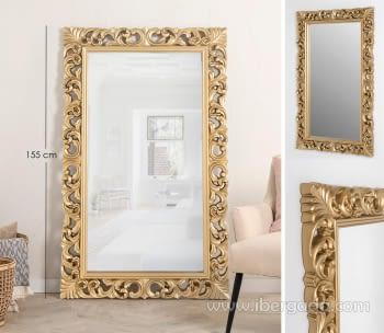 Espejo Rectangular Barroco Oro (155x95)