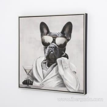 Juego de 2 Cuadros Bulldog Oleo (60X60) - 3