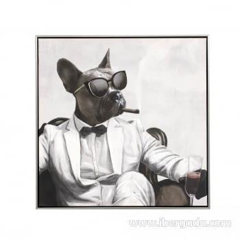 Juego de 2 Cuadros Bulldog Oleo (60X60) - 5