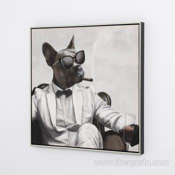 Juego de 2 Cuadros Bulldog Oleo (60X60) - 6
