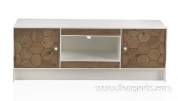 Mueble TV Magnolia 2 Puertas 2 Cajones Blanco (140x40x50) - 1