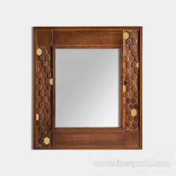 Espejo Hexagono (80x4x90)