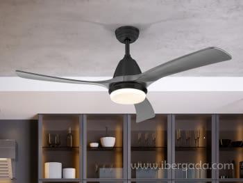 Ventilador Aspas Negro/Gris (132x132)