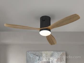 Ventilador Sirocco Negro/Nogal (132x132)