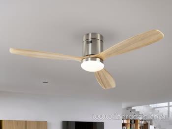 Ventilador Sirocco Niquel/Madera (132x132)