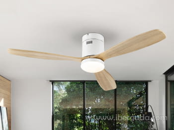 Ventilador Sirocco Blanco/Madera (132x132)