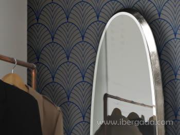 Espejo Aries Oval Plata (136x36) - 2