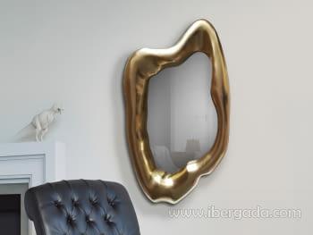 Espejo Caos Pan de Oro (117x68)
