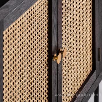 Aparador/Taquillón Kenia Negro 2 Puertas (80x35x75) - 5