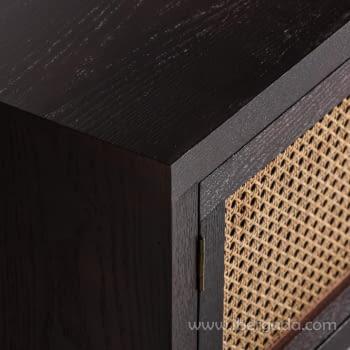 Mueble TV Kenia Negro 2 Puertas (150x40x50) - 3