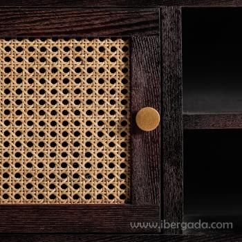 Mueble TV Kenia Negro 2 Puertas (150x40x50) - 5
