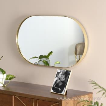Espejo Ovalado Dorado (72x44)