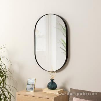 Espejo Ovalado Negro (72x44)