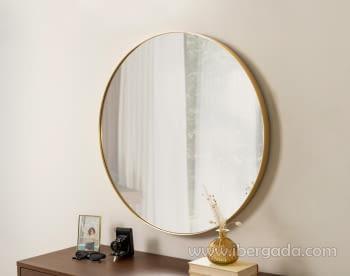 Espejo Redondo Dorado (80x80)