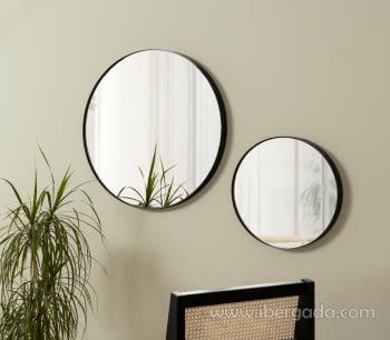 Espejo Redondo Negro (50x50)