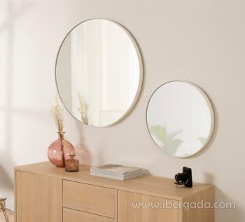 Espejo Redondo Blanco (50x50)