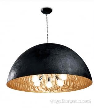 Colgante Magma Grande Oro/Negro
