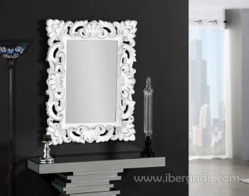 Espejo Alena Barroco Blanco (107x82)