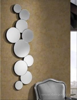 Espejo Circulos Cristal (144x52)