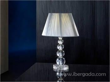 Sobremesa Mercury Transparente Grande LED