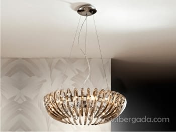 Colgante Ariadna 12L Champagne LED