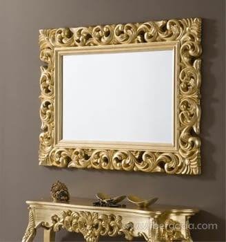 Espejo Rectangular Barroco Oro (120x90)