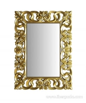 Espejo Rectangular Barroco Oro (130x100)