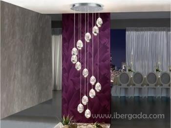 Colgante Rocio 14L Cromo LED