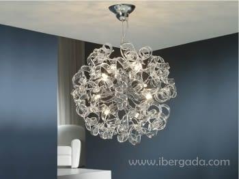 Colgante Nova Transparente 8L LED
