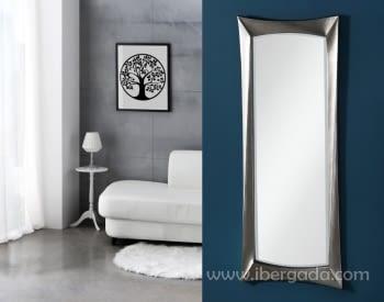 Espejo Deco Rectangular Plata (170x65)