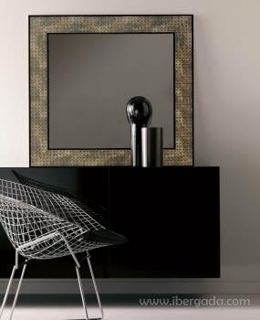 Espejo Reflect Oro Envejecido (80x80)
