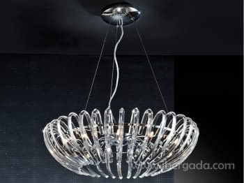 Colgante Ariadna 12L Cromo LED