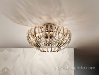 Plafón Ariadna 9L Champagne LED