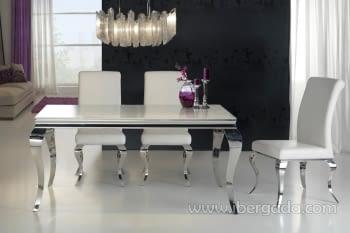 Mesa de Comedor Barroque Acero 160