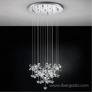 Colgante Pianopoli Cromo Pequeño LED